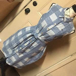 Tommy Hilfiger plaid denim dress size small